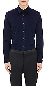Barneys New York Burberry X Men's Corduroy Shirt - Navy