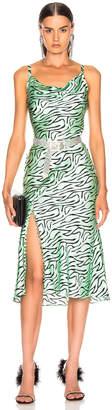 Olivia Rubin Lia Slip Dress in Mint Zebra | FWRD