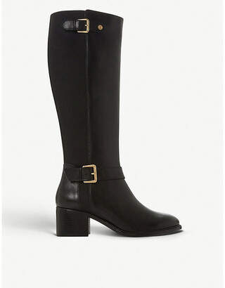 Dune Tildaa block heel leather riding boots