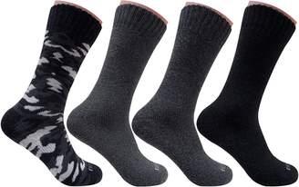 Dickies Men's 4 Pack All Season Marled Moisture Control Crew Socks (Assorted )