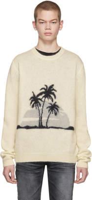 Saint Laurent Off-White Mohair Sunset Sweater
