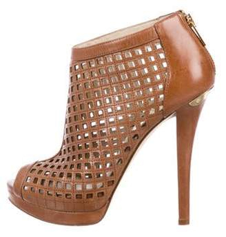 Michael Kors Leather Ankle Booties brown Leather Ankle Booties