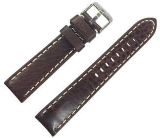 Dakota 26mm Brown Thick Pad Oil Tanned Shrunken Leather Brown