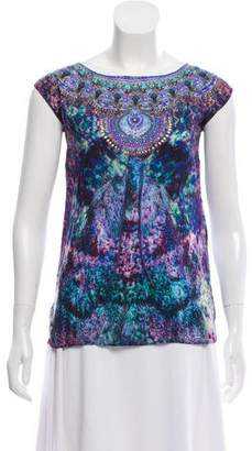 Camilla Embellished Printed Top