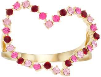 Brilliance+ Brilliance Gold Tone Heart Ring with Swarovski Crystals