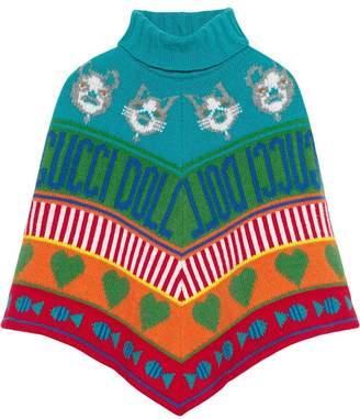 Gucci Kids Children's wool jacquard poncho