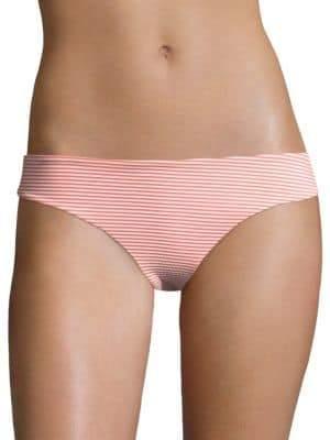 Onia Lily Striped Seersucker Bikini Bottom