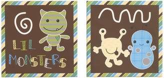 CoCalo Baby Baby Peek A Boo Monsters 2-pc. Canvas Wall Art Set