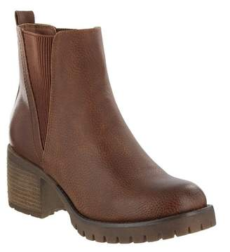 Mia Jody Ribbed Block Heel Chelsea Boot