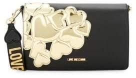 Love Moschino Metallic Heart Patch Crossbody Bag