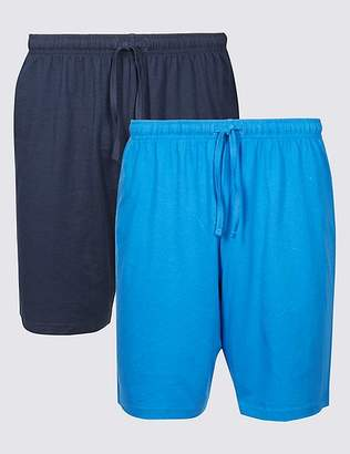 Marks and Spencer 2 Pack Pure Cotton Pyjama Shorts