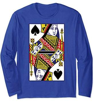 Queen Of Spades Playing Card Long Sleeve Shirt