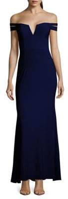 Xscape Evenings Off-The-Shoulder Evening Gown