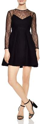 Sandro Jeanette Lace-Detail A-Line Dress