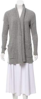 MICHAEL Michael Kors Wool-Cashmere Ribbed Cardigan