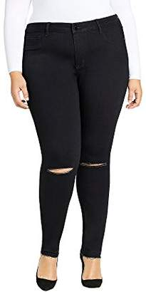 William Rast Women's Plus Size Sculpted High Rise Skinny Jean