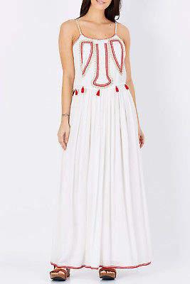 Biba NEW Solito Womens Maxi Dresses Maxi Dress White - Dresses