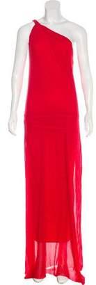 Fuzzi One-Shoulder Maxi Dress