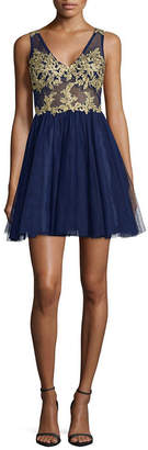 Dj Jaz DJ Jaz Blondie Nites Sleeveless Applique Party Dress-Juniors