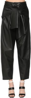 Krizia High Waist Leather Pants