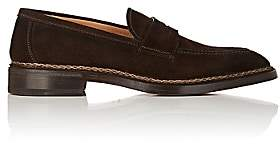 Fratelli Giacometti Men's Suede Penny Loafers - Dk. brown