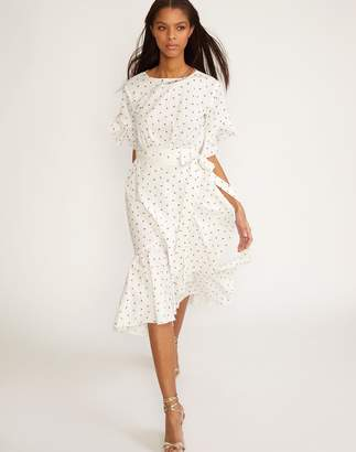Cynthia Rowley Mini Rosebud Wallflower Wrap Dress