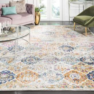 Bungalow Rose Grieve Power Loomed Synthetic Cream Area Rug - ShopStyle