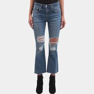 Rag & Bone Crop Flare Jean in Howell Wholes
