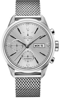 Bulova Men's 'Gemini' Swiss Automatic Stainless Steel Casual Watch, Color:-Toned (Model: 63C116)
