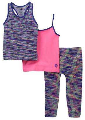 Body Glove 3-Piece Tank & Leggings Set (Little Girls)