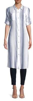 Calvin Klein Striped Cotton Shirtdress
