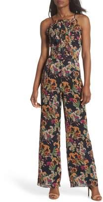 Adelyn Rae Penelope Floral Print Jumpsuit