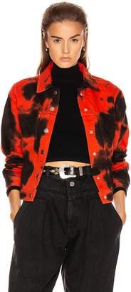 Proenza Schouler Pswl PSWL Denim Jacket in Poppy & Black Tie Dye | FWRD