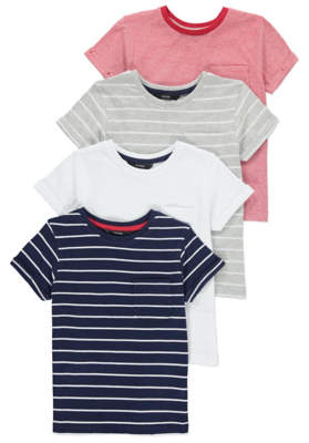 George Assorted Stripe T-Shirts 4 Pack