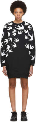 McQ Black Swallow Signature Sweatshirt Dress