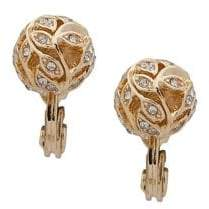 Anne Klein 2-Pair Crystal Ball Earrings
