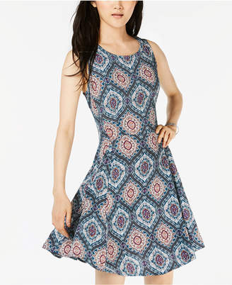 Be Bop Juniors' Printed A-Line Dress
