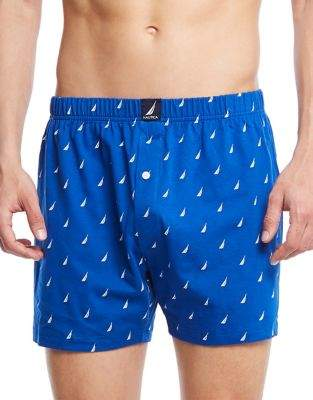 Nautica Patterned Cotton Knit Boxers