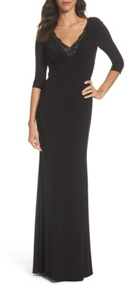 Women's Adrianna Papell Embellished Shirred Gown $229 thestylecure.com
