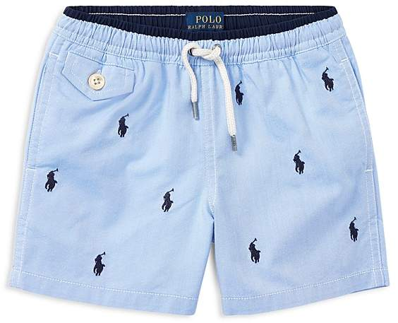Boys' Embroidered Logo Swim Trunks - Little Kid