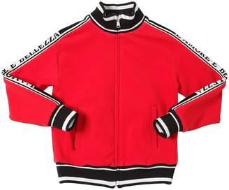 Dolce & Gabbana Intarsia Logo Cotton Sweatshirt