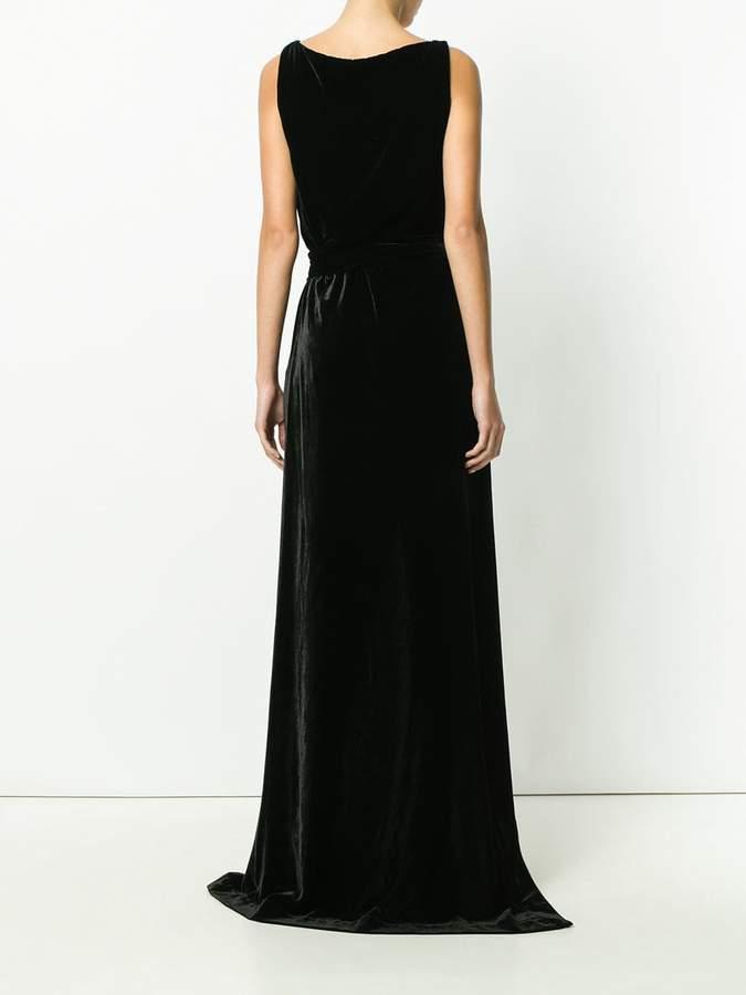 Gareth Pugh sleeveless velvet wrap dress