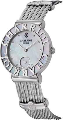 Charriol Women's ST30SC560019 St Tropez Analog Display Swiss Quartz Silver Watch