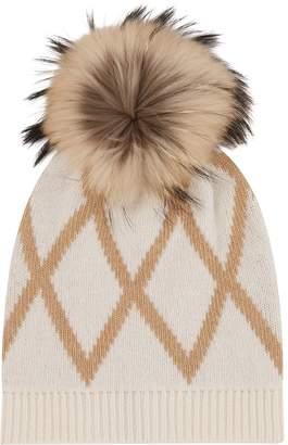 Max Mara Raccoon Fur Pom Pom Hat