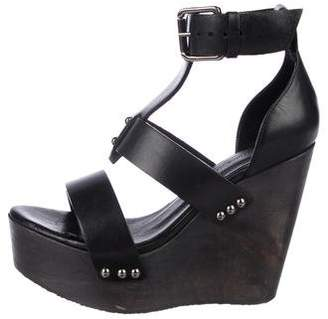 AllSaints Leather Platform Sandals