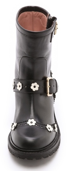 RED Valentino Flower Embellished Booties