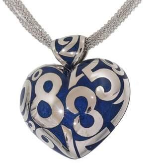 Franck Muller Talisman 18K White Gold and Enamel Heart Necklace