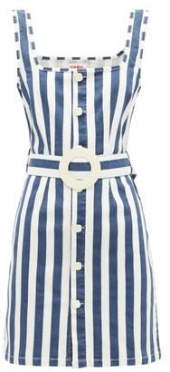 Solid & Striped Striped Stretch Denim Dress - Womens - Blue Stripe
