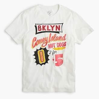 J.Crew Coney Island hot dog graphic T-shirt