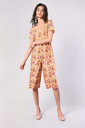 Glamorous **Floral Print Culotte Jumpsuit